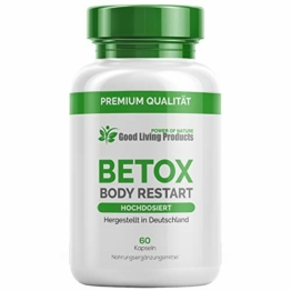 Betox Body Restart – Ergänzend bei Darmsanierung, Detox Kur (1 Dose je 60 Kapseln) - 1